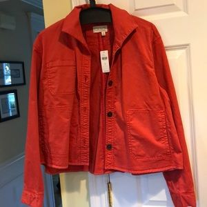 CHNO by Anthropologie Shirt Jacket Red Size Med